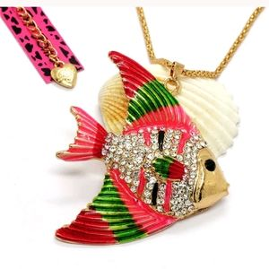 New pink fish necklace